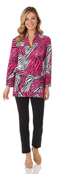 Jude Connally Chris Tunic Top in Zebra Multi Black