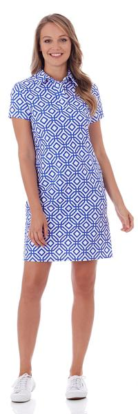 Jude Connally Emily Polo Dress in Grand Links White Sapphire - FINAL SALE