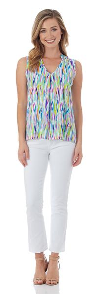 Jude Connally Eva Top in Mod Watercolor Multi - FINAL SALE
