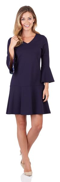 Jude Connally Gabriella Ponte Dress in Dark Navy