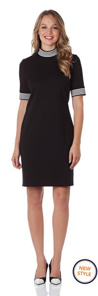 Jude Connally Grace Ponte Dress in Black