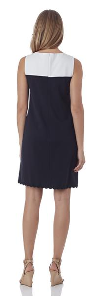 Jude Connally Hattie RicRac Ponte Dress in Dark Navy