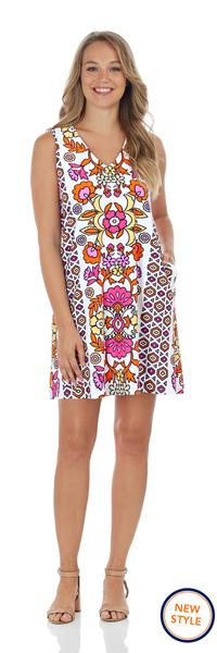 Jude Connally Jacey Dress in Floral Block Berry