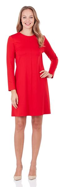 Jude Connally Karlie Ponte Dress in Red Sundance Paisley - Saratoga Saddlery & International Boutiques