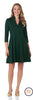 Jude Connally Kennedy Ponte Fit and Flare Dress in Pine