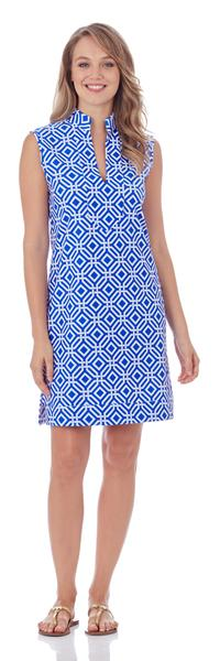 Jude Connally Kristen Tunic Dress in Grand Links Sapphire
