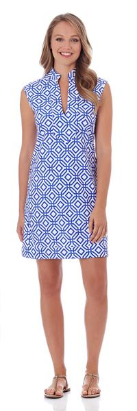Jude Connally Kristen Tunic Dress in Grand Links White Sapphire - FINAL SALE