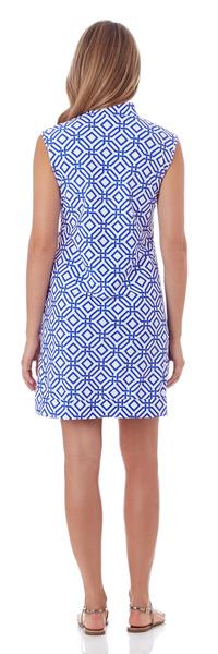 Jude Connally Kristen Tunic Dress in Grand Links White Sapphire - FINAL SALE - Saratoga Saddlery & International Boutiques