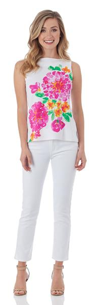 Jude Connally Lauren Top in Painted Floral White