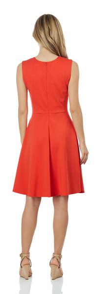 Jude Connally Leah Ponte Dress in Tangerine