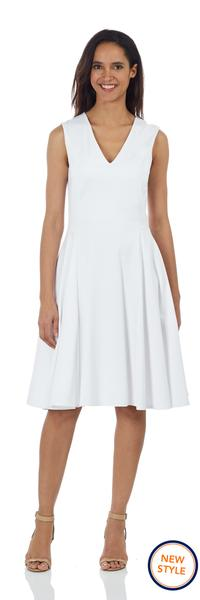 Jude Connally Leah Ponte Dress in White