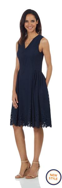Jude Connally Leah Dress in Spring Lace Navy