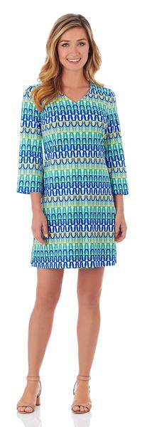 Jude Connally Lexi Shift Dress in Linked Chain Multi