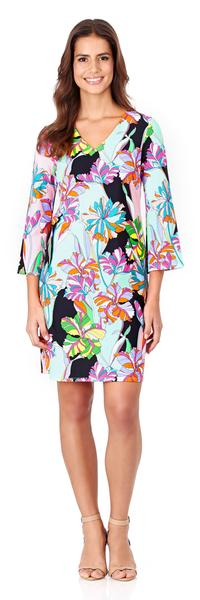 Jude Connally Lexi Shift Dress in Fresh Floral Black
