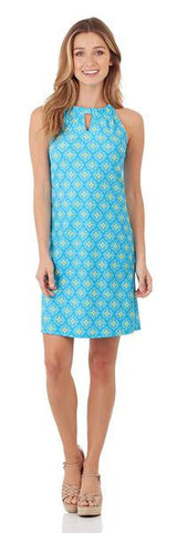 Jude Connally Chris Tunic Top in Ocean Abstract Aqua - FINAL SALE