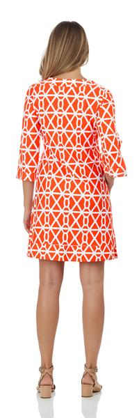 Jude Connally Megan Tunic Dress in Chain Geo Apricot SALE!