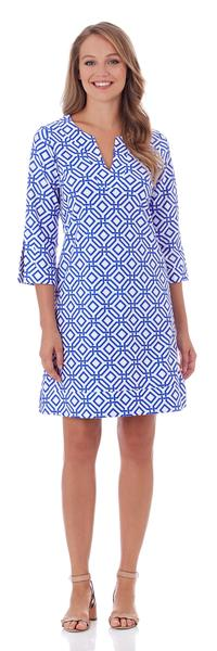 Jude Connally Megan Tunic Dress in Grand Links White Sapphire - FINAL SALE