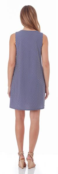 Jude Connally Melody Shift Dress in Nantucket Stripe Navy - FINAL SALE