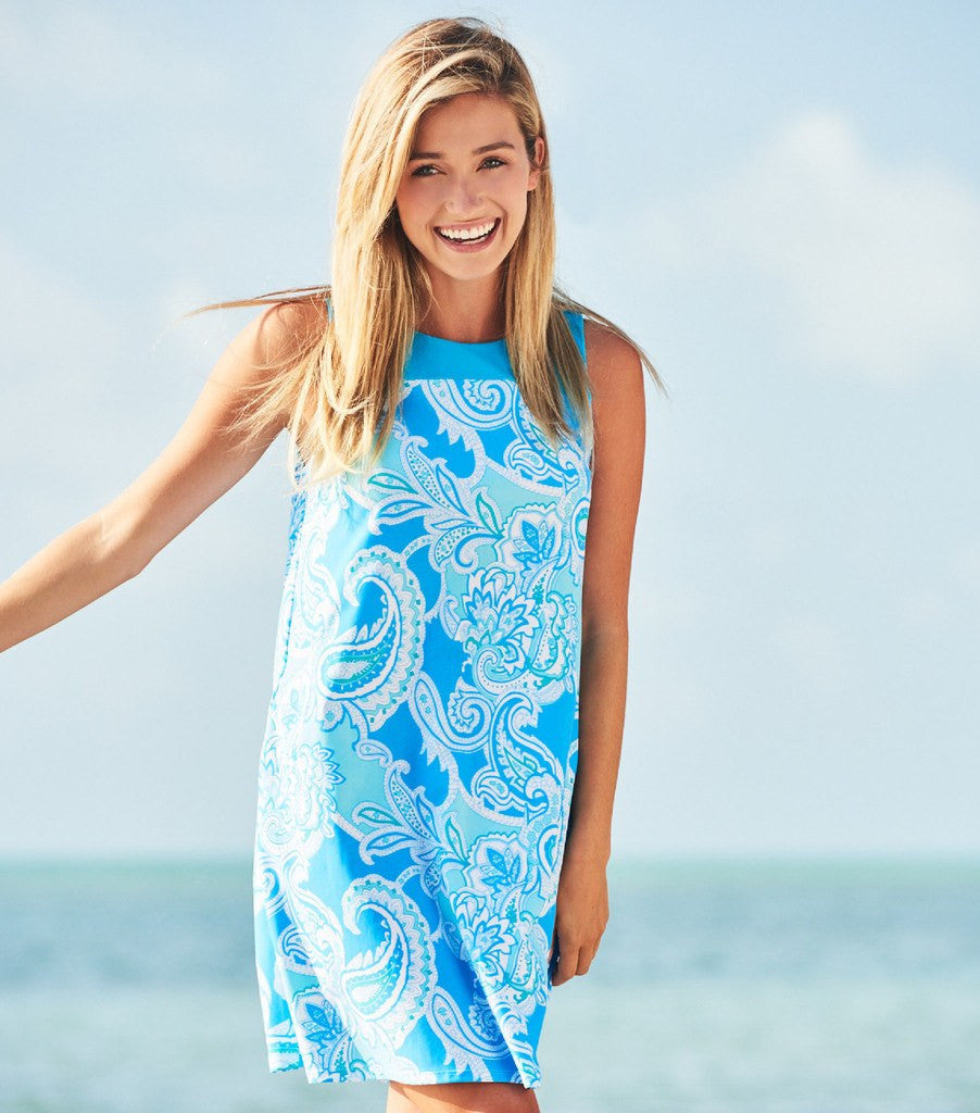 Jude Connally Molly Dress in Paisley Maxi Soft Blue - FINAL SALE