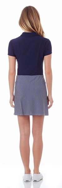 Jude Connally Morgan Skort in Nantucket Stripe Navy SALE!