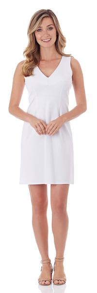 Jude Connally Naomi Ponte Sheath Dress in White