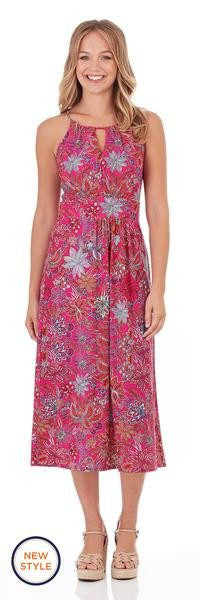 Jude Connally Poppy Dress in Botanical Floral Fuchsia - FINAL SALE - Saratoga Saddlery & International Boutiques