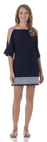 Jude Connally Adele Open-Shoulder Top in Bold Floral Sapphire - FINAL SALE