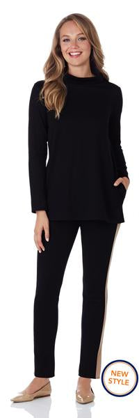 Jude Connally Sawyer Ponte Top in Black