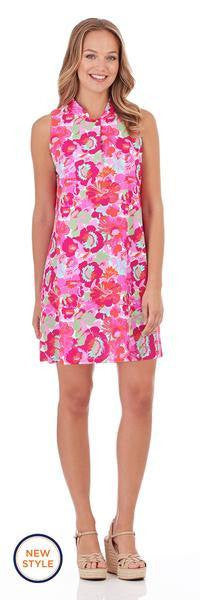Jude Connally Summer Dress in Wildflower Mini Fuchsia