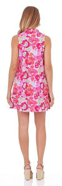 Jude Connally Shift Dress in Wildflower Mini Fuchsia