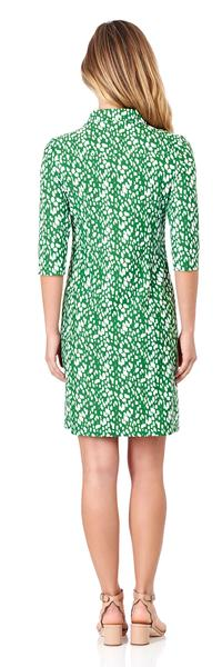 Jude Connally Sloane Shirt Dress in Abstract Spots Jungle Green