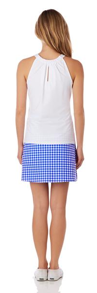 Jude Connally Sonia Skort in Gingham Cobalt