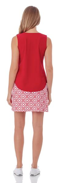 Jude Connally Sonia Skort in Grand Links White Red - FINAL SALE