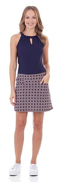 Jude Connally Tanya Skort Geo Navy Blue