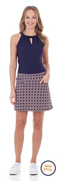 Jude Connally Tanya Skort in Spangled Geo Navy