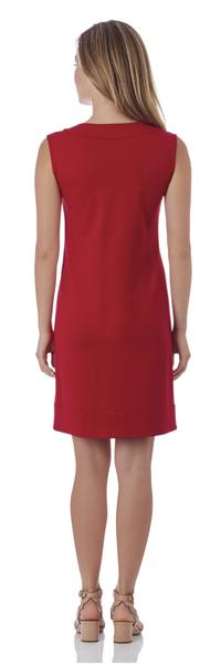 Jude Connally Teagan Ponte Sheath Dress in Cherry Red