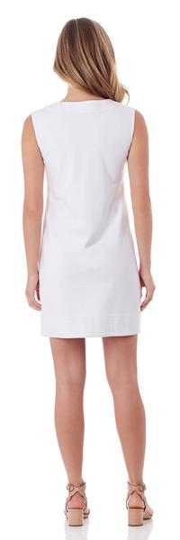 Jude Connally Teagan Ponte Sheath Dress in White