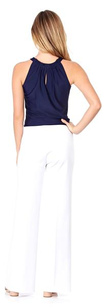 Jude Connally Trixie Ponte Wide Leg Pant in White