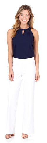 Alison Sheri Navy & White Combination Sweater