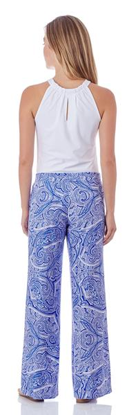 Jude Connally Trixie Pant in Tonal Paisley Sapphire - FINAL SALE - Saratoga Saddlery & International Boutiques