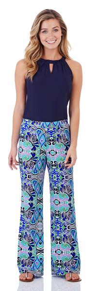 Jude Connally Trixie Pant in Mod Mosaic Blue - FINAL SALE
