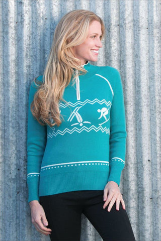 Goode Rider Women's Goode Henley Shirt in Teal
