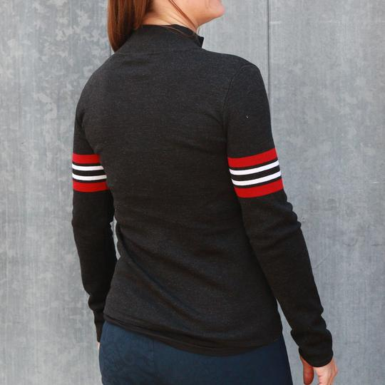 Krimson Klover Bette Full Zip Sweater in Black