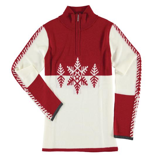 Krimson Klover Marta Quarter Zip Sweater in Red