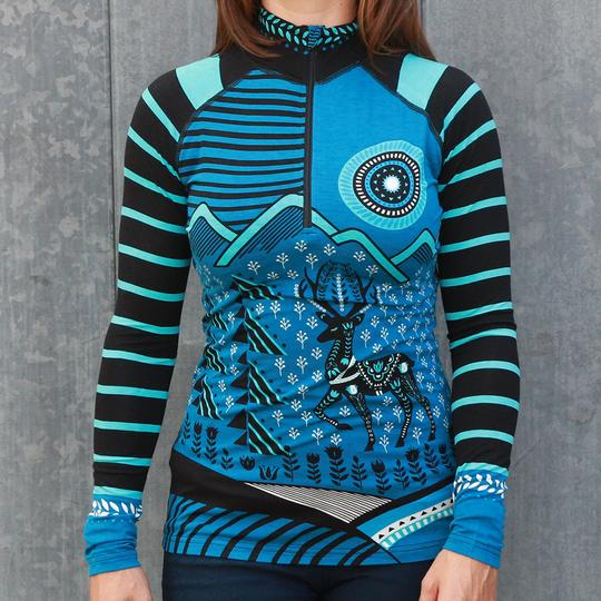 Krimson Klover Martina Lightweight Base Layer Top in Teal