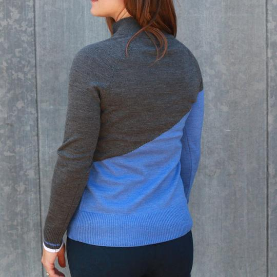 Krimson Klover Rosi Quarter Zip Sweater in Denim