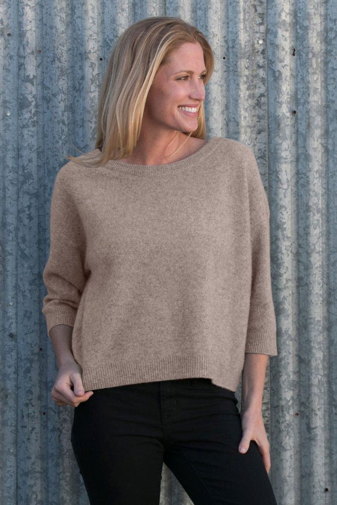Krimson Klover Serendipity Cashmere Sweater in Toast - ON SALE! - Saratoga Saddlery & International Boutiques