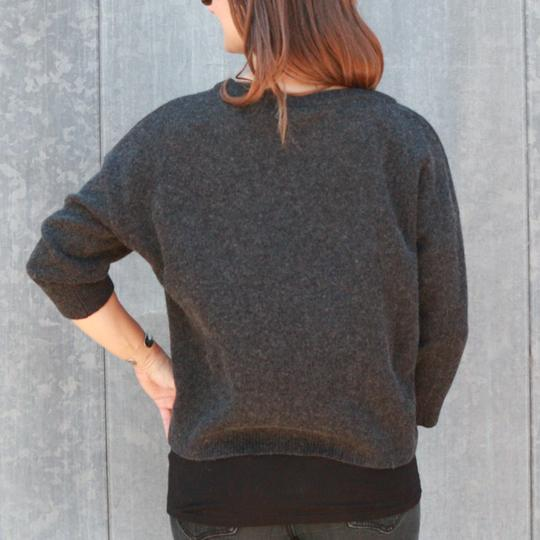 Krimson Klover Serendipity Cashmere Sweater in Heather Black - ON SALE!