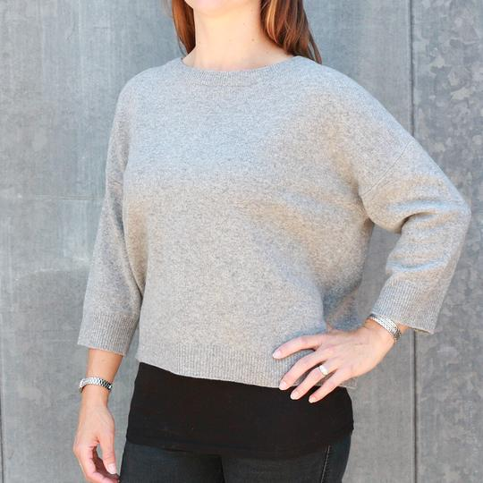 Krimson Klover Serendipity Cashmere Sweater in Mid Grey - Saratoga Saddlery & International Boutiques