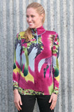 Krimson Klover Watercolor Hand Painted Top In Rhubarb On Sale! - Saratoga Saddlery & International Boutiques